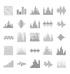 Equalizer graphic audio wave scales theme vector