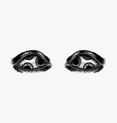 evil eyes gorgon jellyfish for tattoo vector image