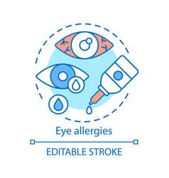 Eye allergies concept icon allergic vector