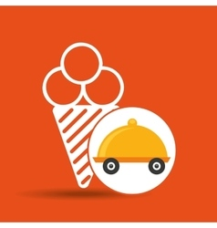Fast delivery food ice cream icon vector