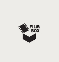 film box logo vector image