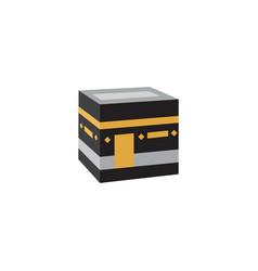 Flat kaaba element flat vector
