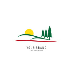 garden symbol logo vector image
