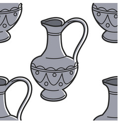 georgian symbol jug or vessel with ornament vector image