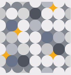 gold and grey circles seamless pattern vector image