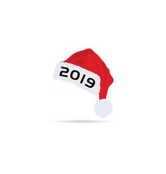 happy new year hat 2019 vector image