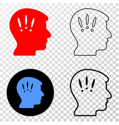 headache eps icon with contour version vector image