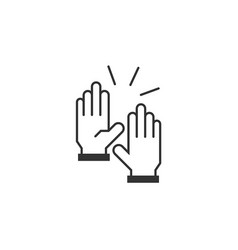 high 5 icon vector image