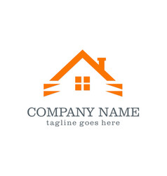home company logo vector image