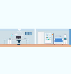 hospital operating table clean medical room vector image