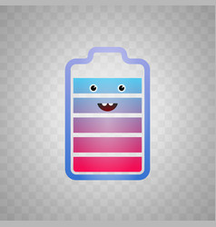 icon which shows a happy vector image