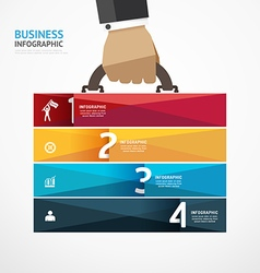 Infographic Template with businessman vector