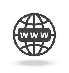 internet http address icon vector image
