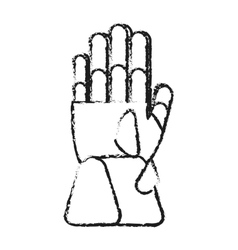 Isolated glove of winter cloth design vector