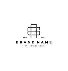 Letter sr logo design vector