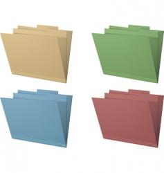 Manila folders vector