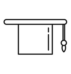 Master graduation hat icon outline college vector