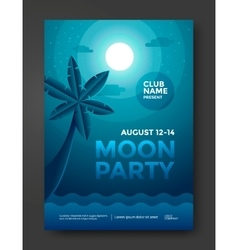 Moon party flyer vector image vector image