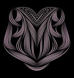 neckline - ornamental ethnic design vector image