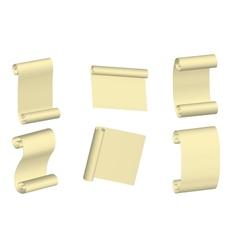 Parchment set vector