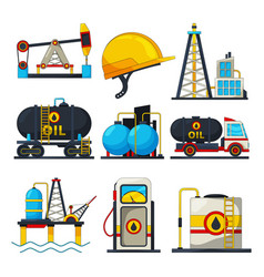 petroleum and gas icons vector image