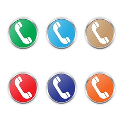 phone icon color set vector image