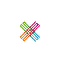 pixel letter x logo icon design vector image