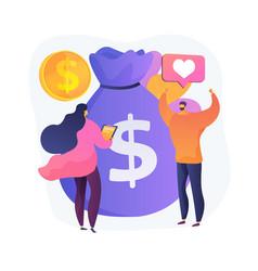 Premium cash reward concept metaphor vector