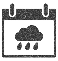 Rain Cloud Calendar Day Grainy Texture Icon vector