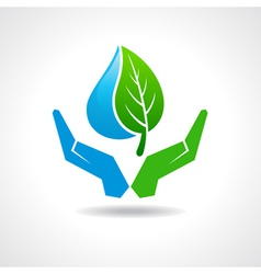 Save nature concept vector image