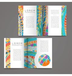 Set of design templates Brochures in random vector