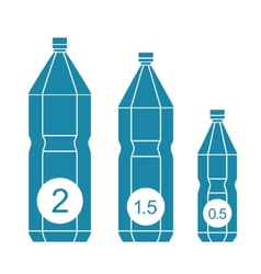 Set of isolated water bottle icons vector image
