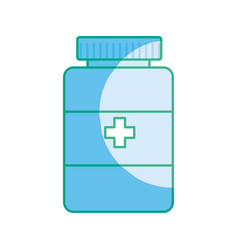 Silhouette medical pharmaceutical drugs treatment vector