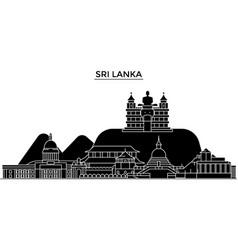 Sri lanka architecture city skyline travel vector