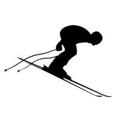 start skier athlete vector image