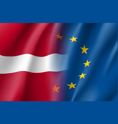 Symbol latvia is eu member vector