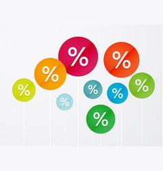 symbol percent discounts vector image