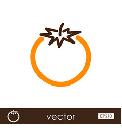tomato outline icon vegetable vector image