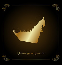 Uae golden map vector