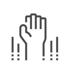 Volunteer permission icon vector