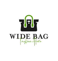 Wide bag inspiration logo with letter w vector