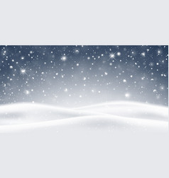 Winter background with falling snow vector