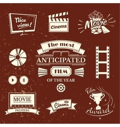 Movie signs set vector image vector image