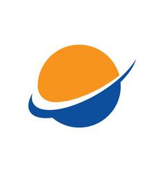 abstract globe arrow business logo vector image