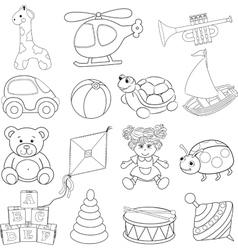 Babys toys set vector image vector image
