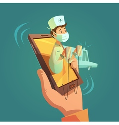Mobile Online Doctor Concept vector image