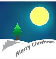 Moon Merry Christmas vector image vector image