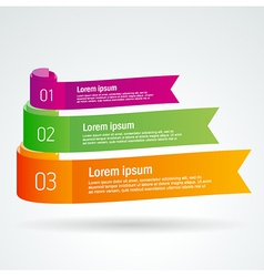 number list ribbon roll strip colored element set vector image