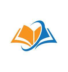 book education arrow logo vector image vector image
