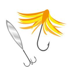 fishing bait icon flat cartoon style isolated vector image